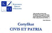 Certyfikat CIVIS ET PATRIA